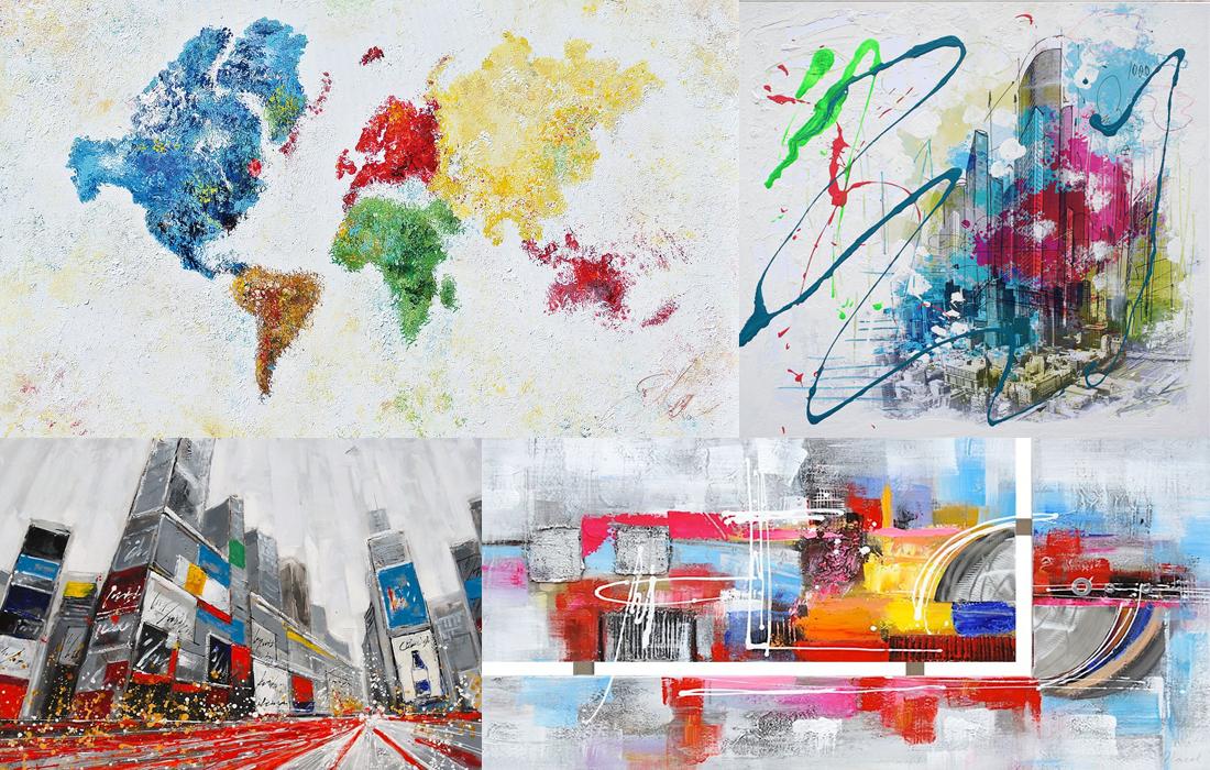 Moderne kleurrijke schilderijen