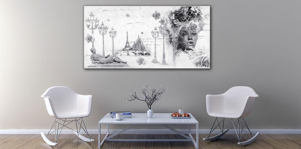 Groot schilderij aan de muur