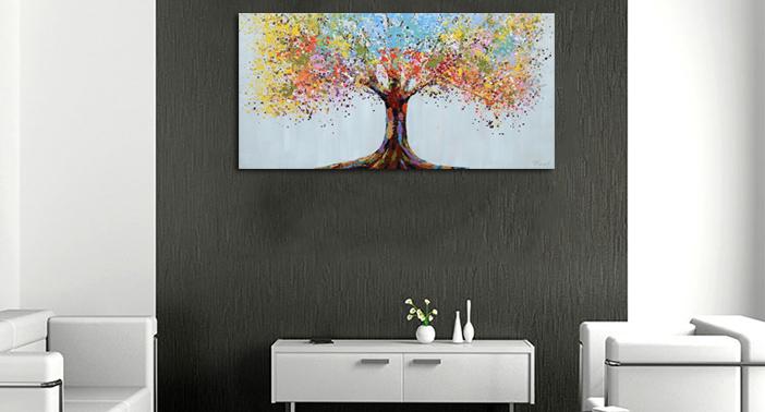 Kleurlijke boom nieuwe collectie