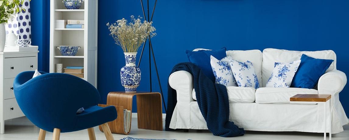 Woonkamer inspiratie blauw