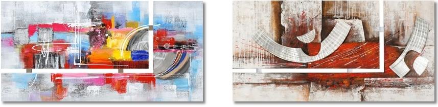 abstract werk aan de muur