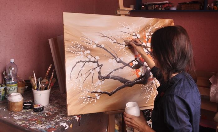Aleksandra takken schilderij