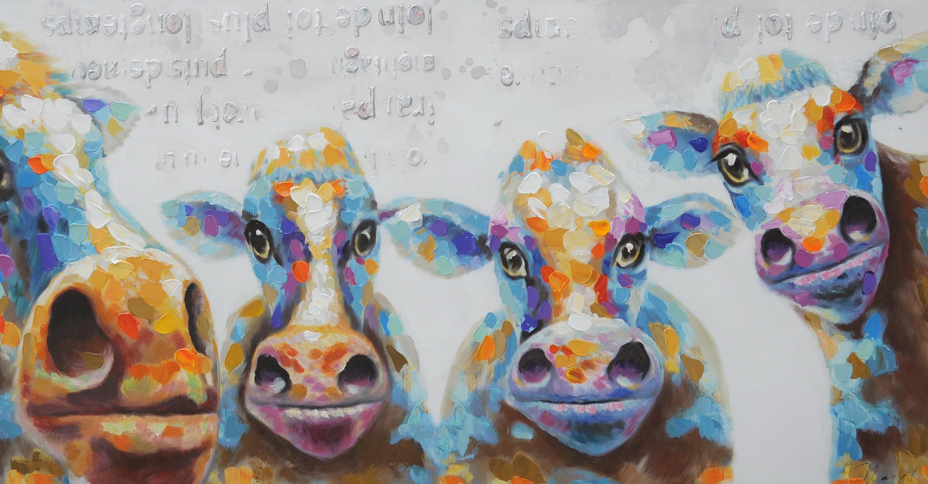 Kleurrijke koeien