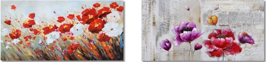 bloemen werk aan de muur