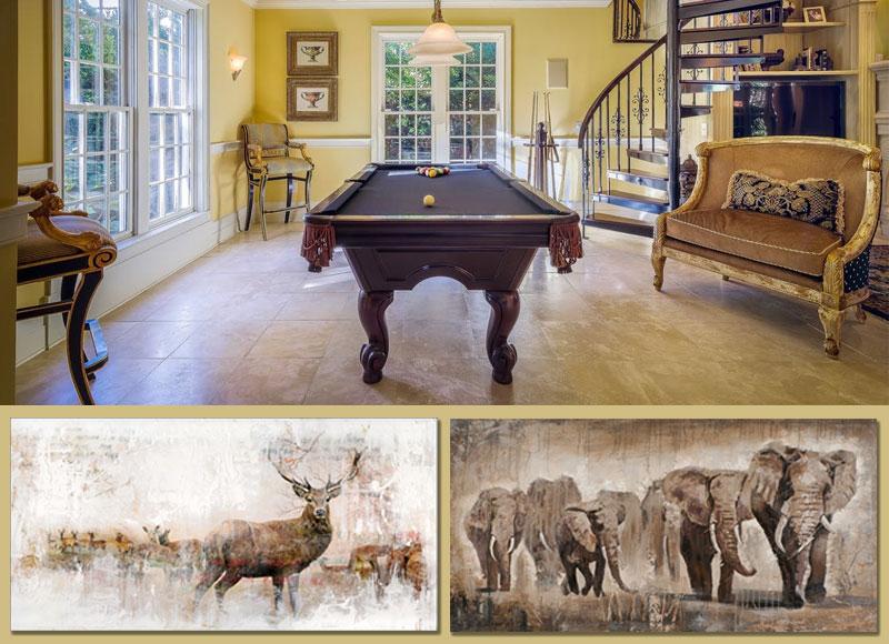 dieren schilderij aardetint