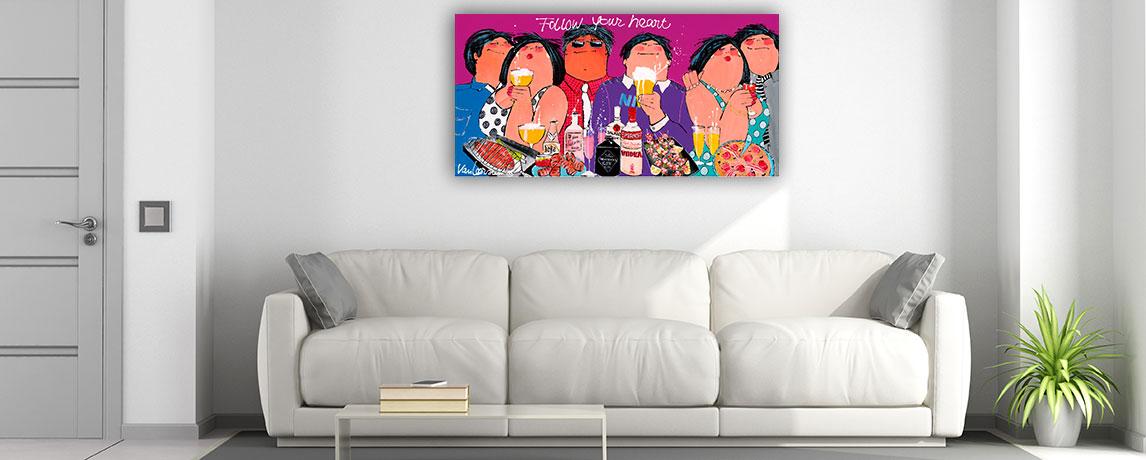 groot schilderij interieur