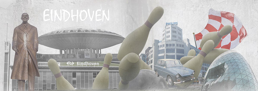 Schilderij Eindhoven voor in de zomer