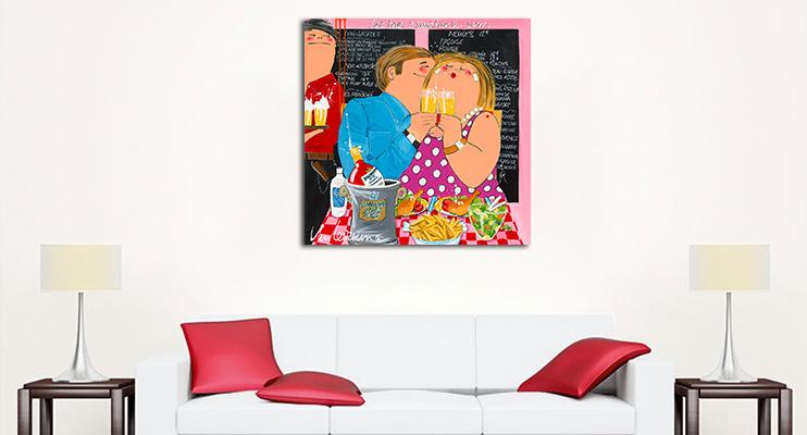 Dikke dames schilderijen