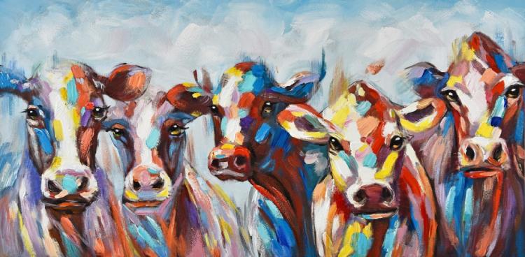 canvas schilderijen koeien