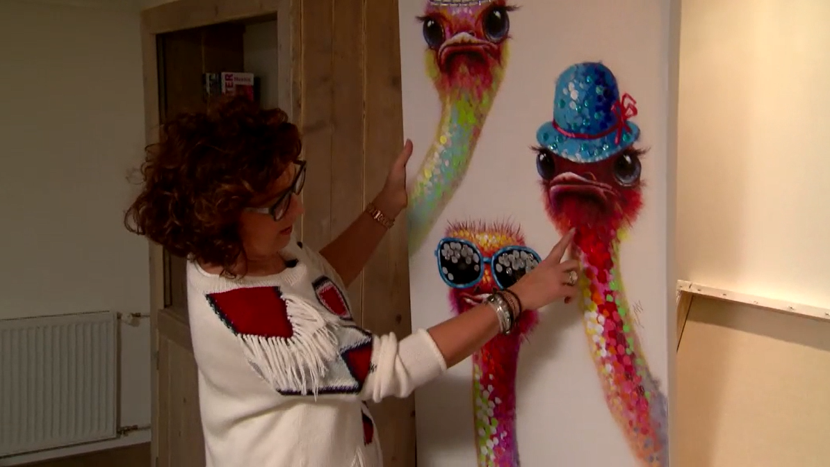 Jorna met vrolijke dieren schilderij