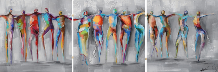drieluik canvas schilderij