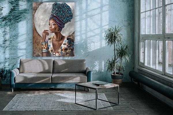 groot schilderij boven bank