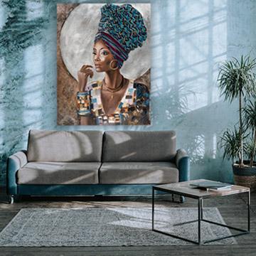 grote schilderijen woonkamer