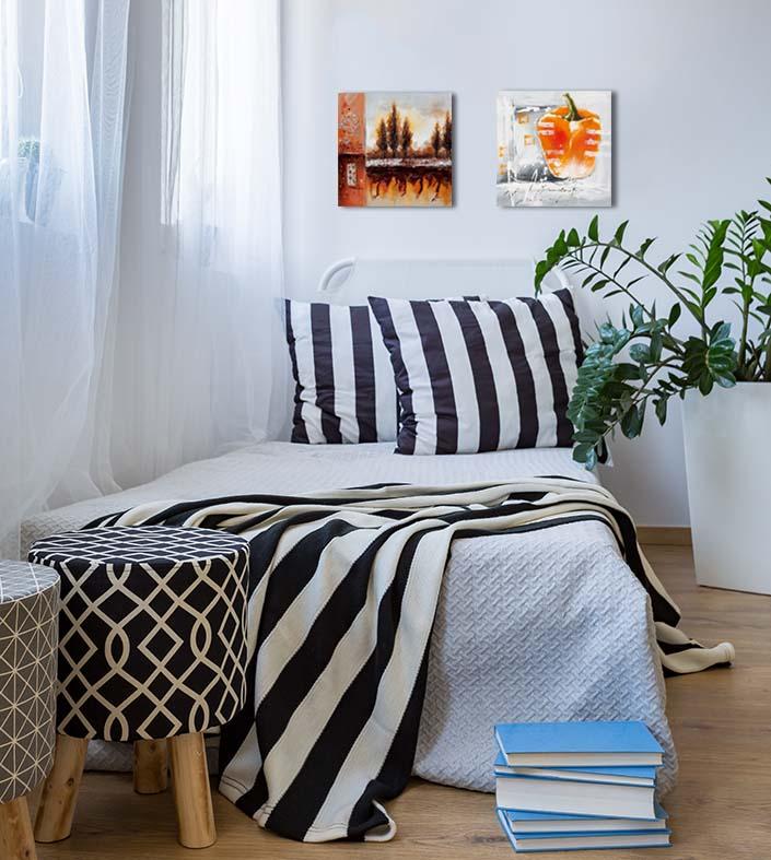 inrichten van een kleine slaapkamer