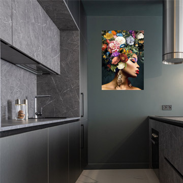 keuken schilderij