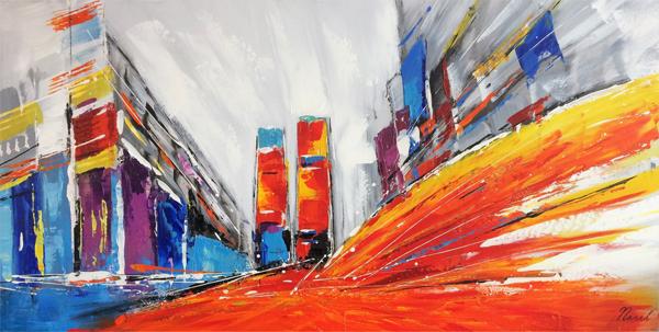 moderne schilderijen felle kleuren