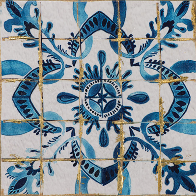 moderne schilderijen blauwe kleur