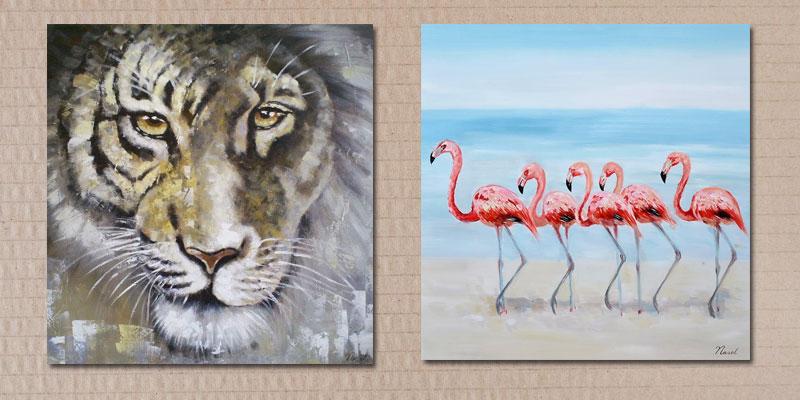 nieuwe schilderijen met dieren