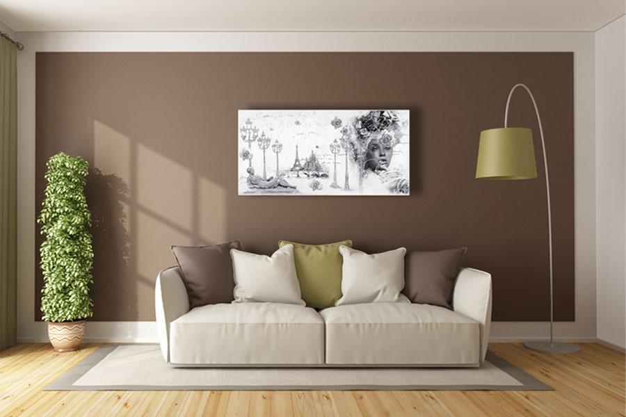 schilderij zwart wit
