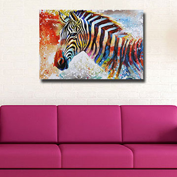 Woonkamer decoratie zebra