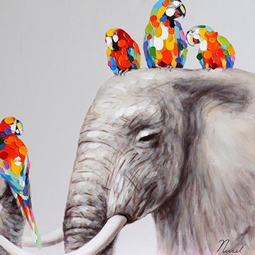 Vrolijke dieren schilderijen