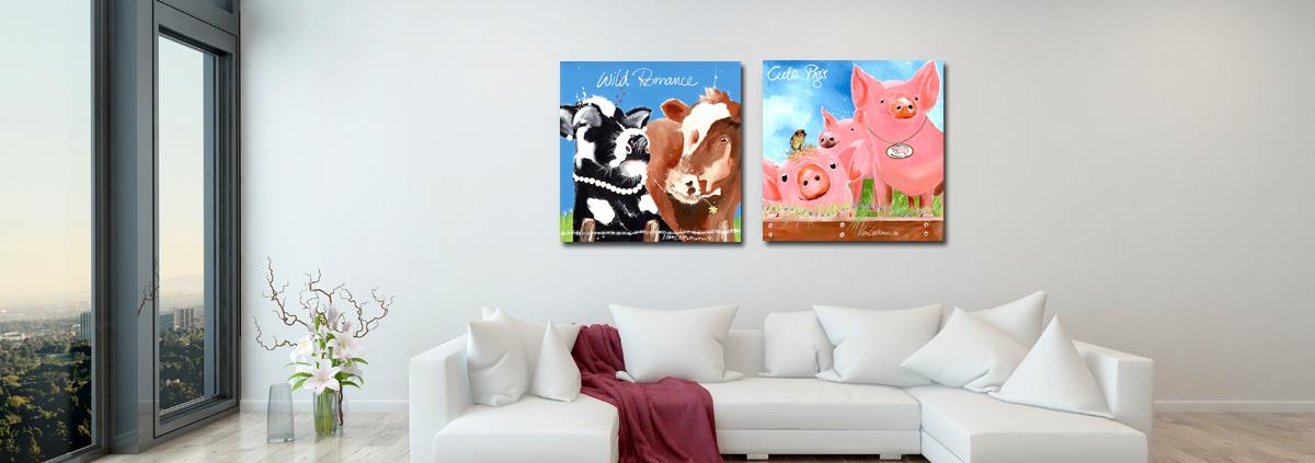 Interieur blog woonkamer dieren schilderijen for Schilderij woonkamer